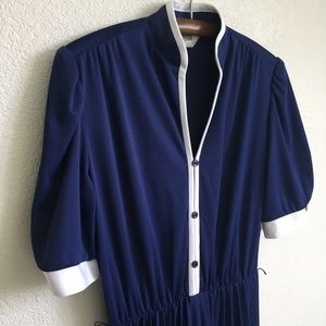 Vintage 80s Dress with Pleated Skirt